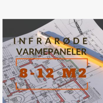 Infrarød varme 8-12 m2